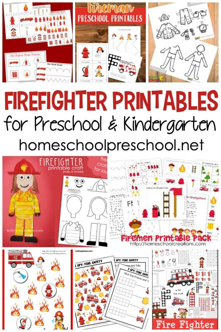 Fire Safety Worksheets Preschool Free Firefighter Printables for Preschool and Kindergarten