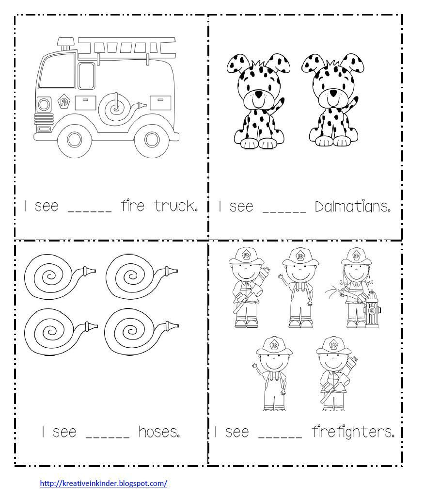 Fire Safety Worksheets Preschool Math Worksheet for Fire Safety Week