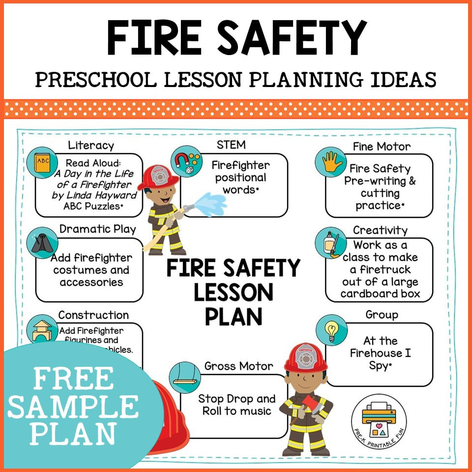 Fire Safety Worksheets Preschool Preschool Fire Safety Lesson Planning Ideas Pre K