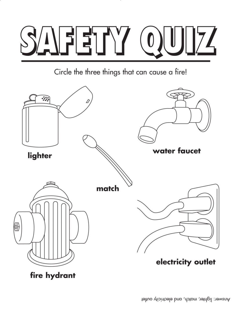 Fire Safety Worksheets Preschool Worksheet Coloring Pages Fire Safety Book Printable