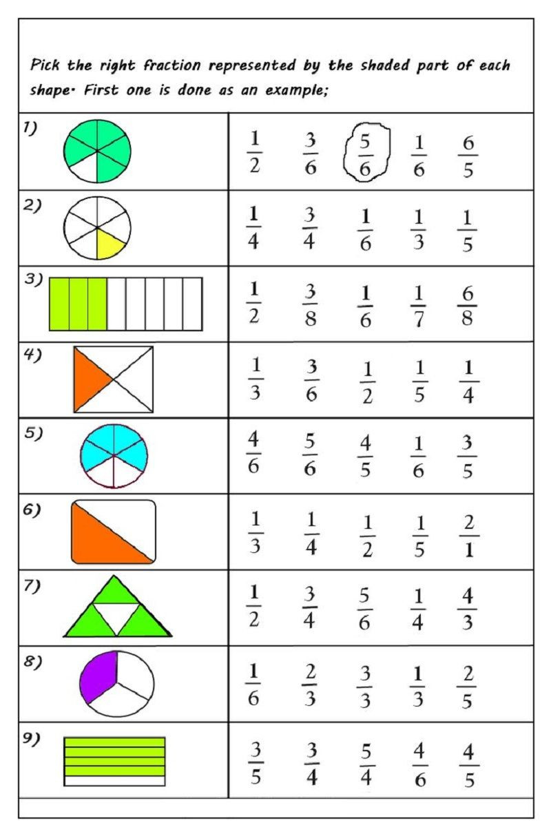 First Grade Fractions Worksheets Pin On Matte