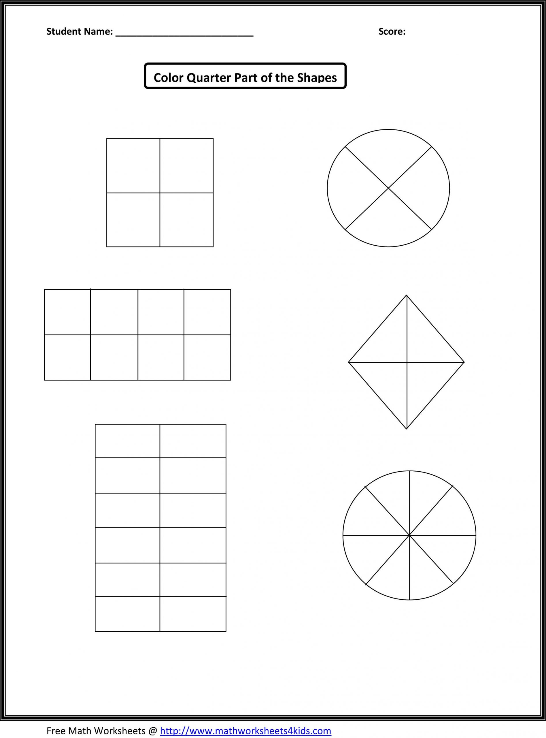First Grade Fractions Worksheets This Would Work for First Grade Fraction Number Sense