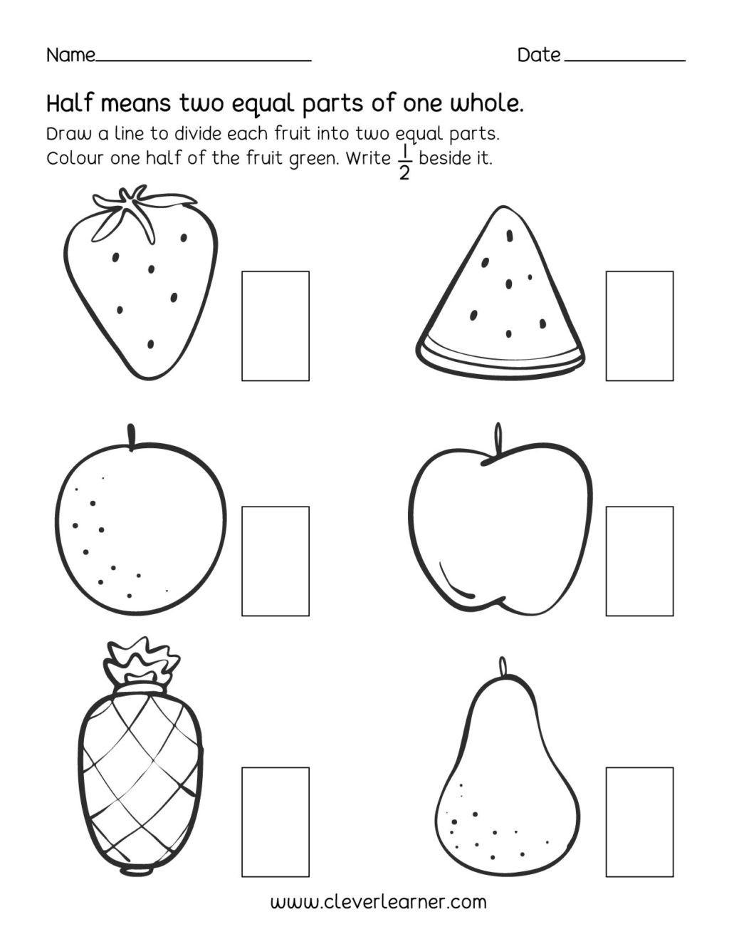 First Grade Fractions Worksheets Worksheet Activity Worksheets Fractions Half First Grade