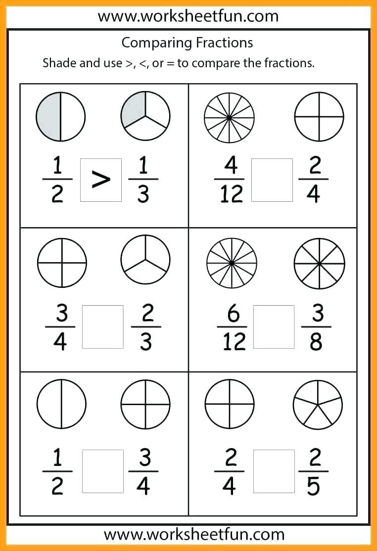 First Grade Fractions Worksheets Worksheet Math Papers for First Graders Grade Easy 1st