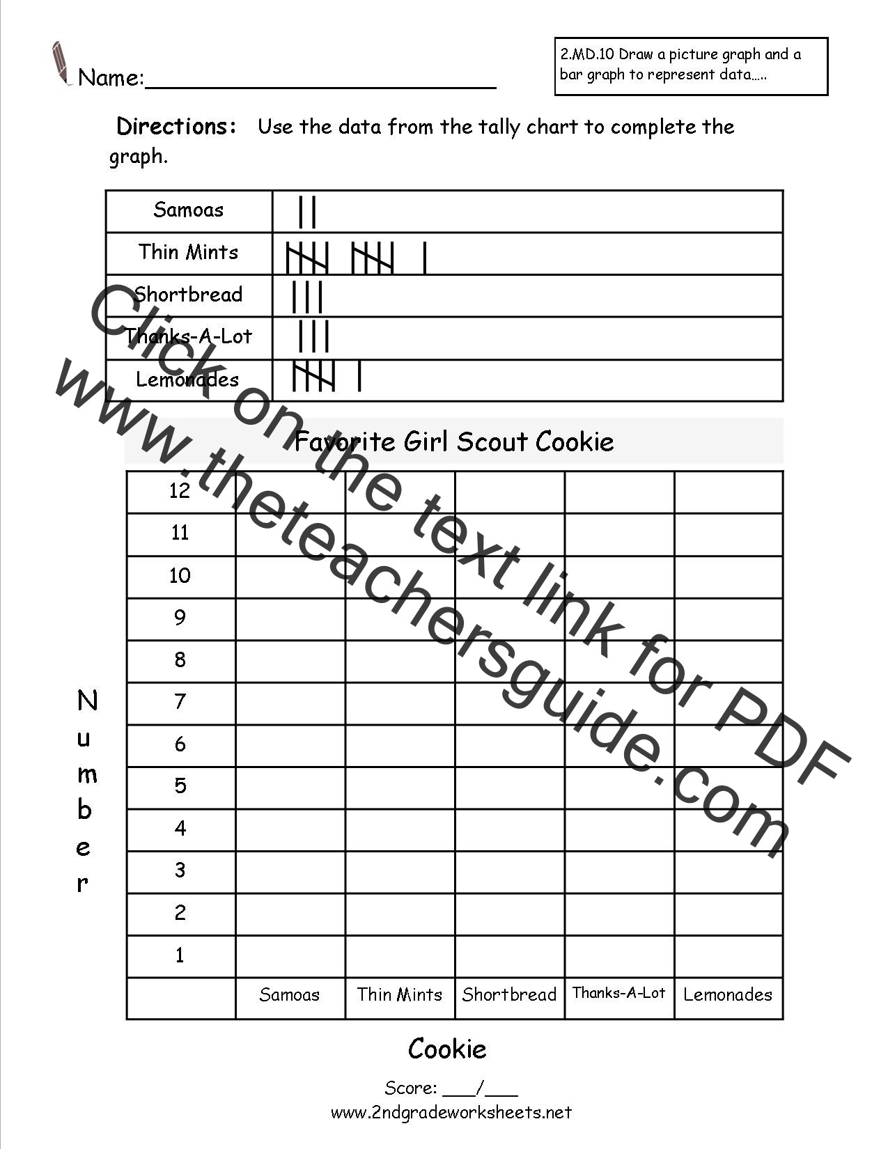First Grade Graphing Worksheets Bar Graphs and Pictographs Lessons Tes Teach