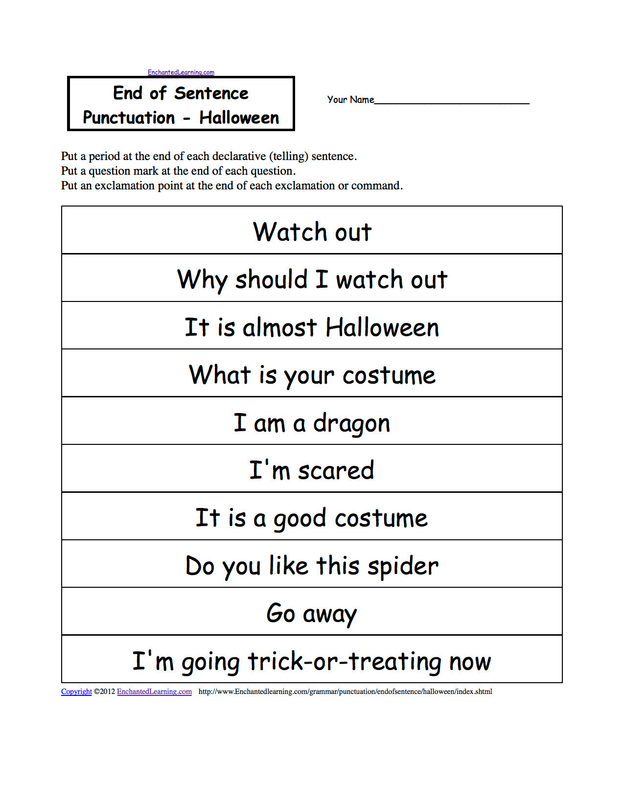 First Grade Punctuation Worksheets 3 Free Grammar Worksheets First Grade 1 Punctuation