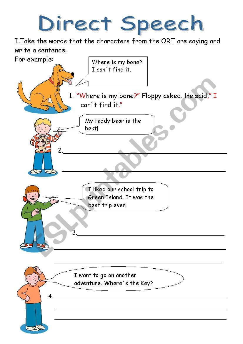 First Grade Punctuation Worksheets Direct Speech Esl Worksheet by Yizelt Punctuation Worksheets