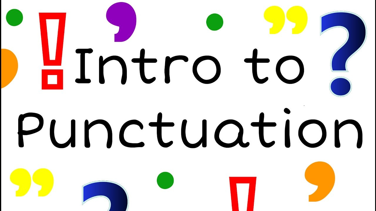 First Grade Punctuation Worksheets Intro to Punctuation for Kids English Grammar for Children Freeschool