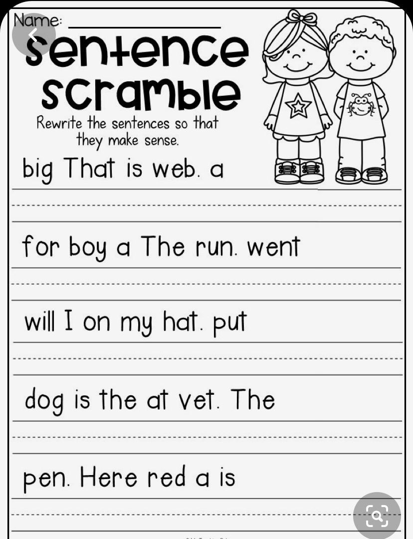 First Grade Punctuation Worksheets Pin by Rosa On Kg In 2020