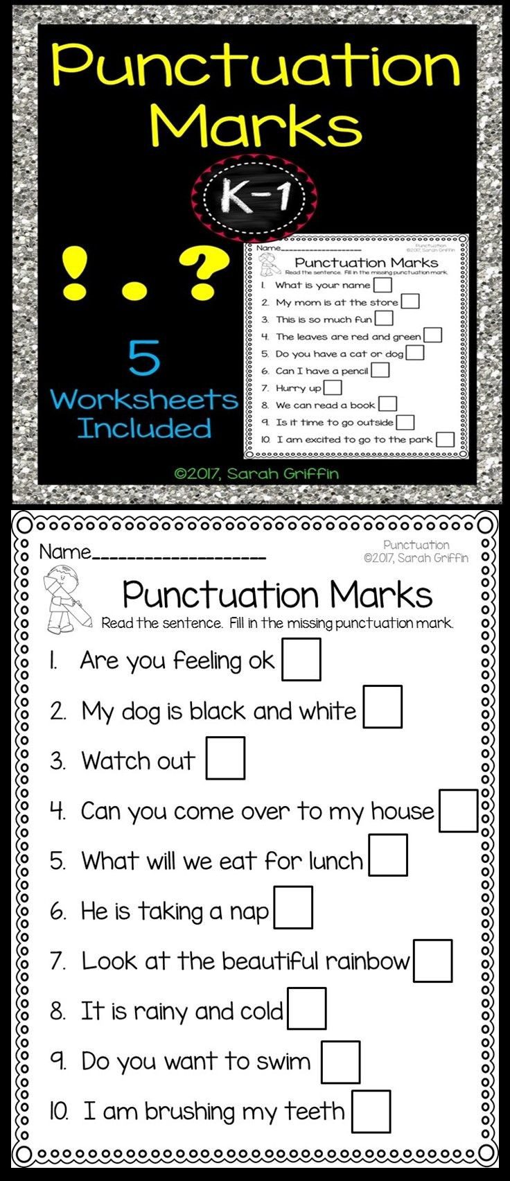 First Grade Punctuation Worksheets Punctuation Marks Worksheets