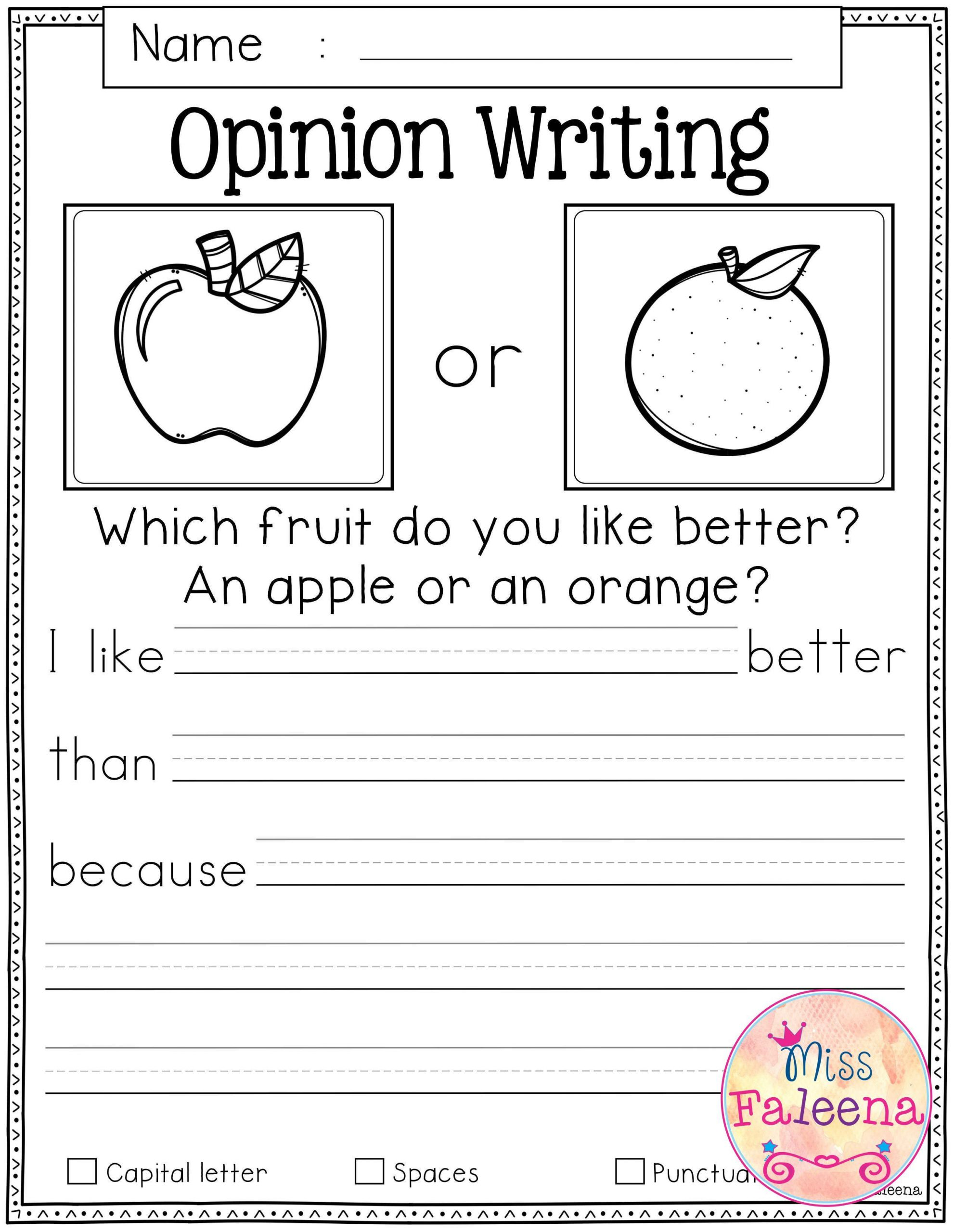 First Grade Writing Worksheets October Writing Prompts In 2020