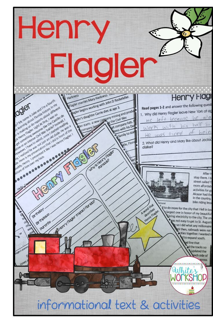 Florida History Worksheets 4th Grade Florida social Stu S Henry Flagler