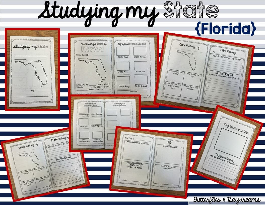 Florida History Worksheets 4th Grade State History Project Florida