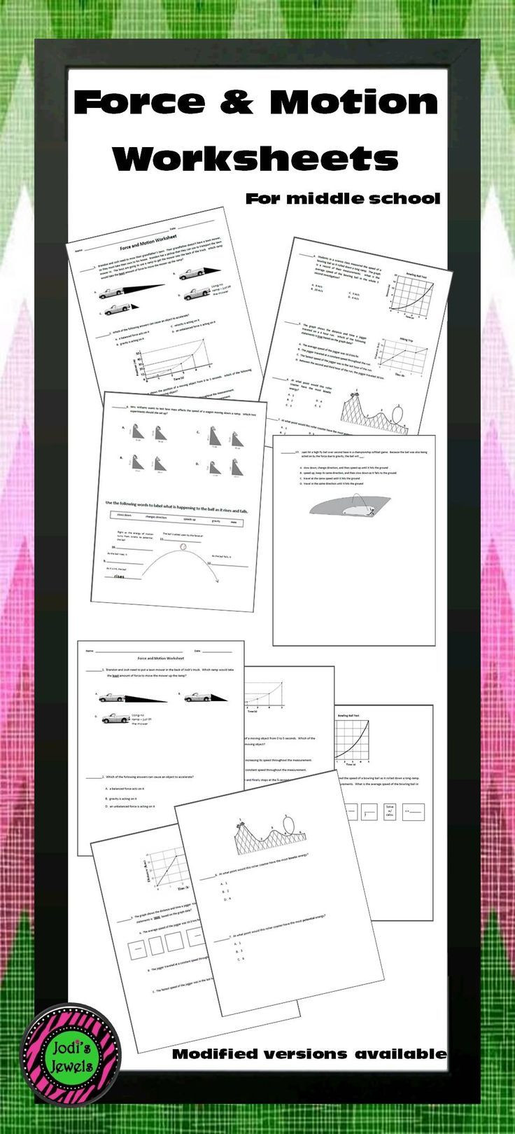Force and Motion Printable Worksheets force and Motion Worksheet