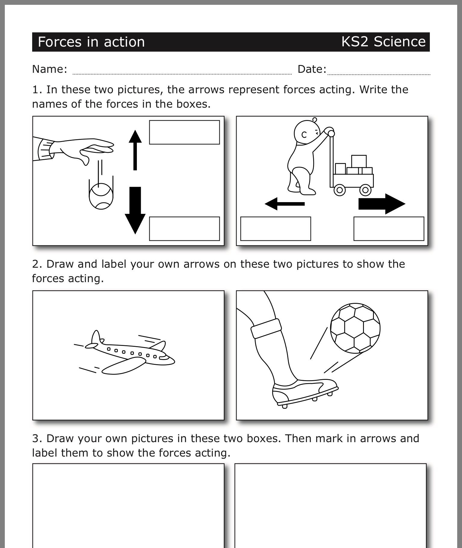 Force and Motion Printable Worksheets Pin by Dht forces