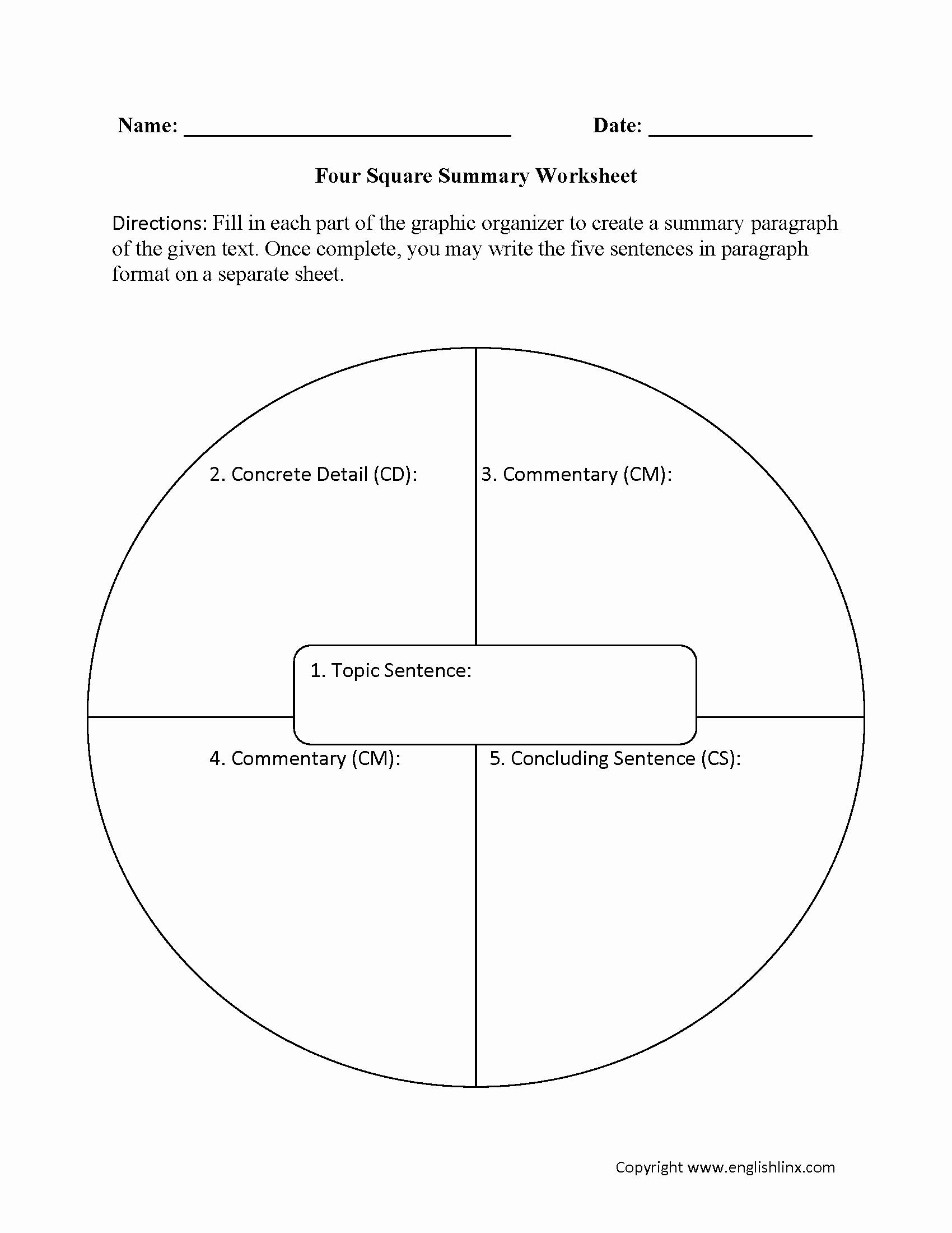Four Square Writing Worksheets 25 Four Square Graphic organizers In 2020