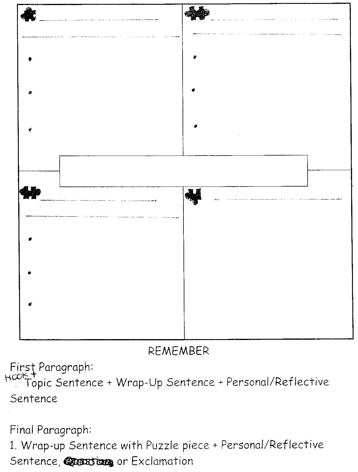 Four Square Writing Worksheets 4 Square Writing Template Narrative Writing Four Square