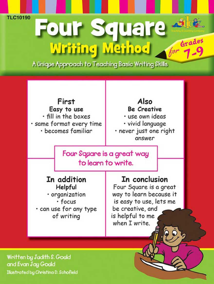 Four Square Writing Worksheets Four Square Writing Method for Grades 7 9 Four Square