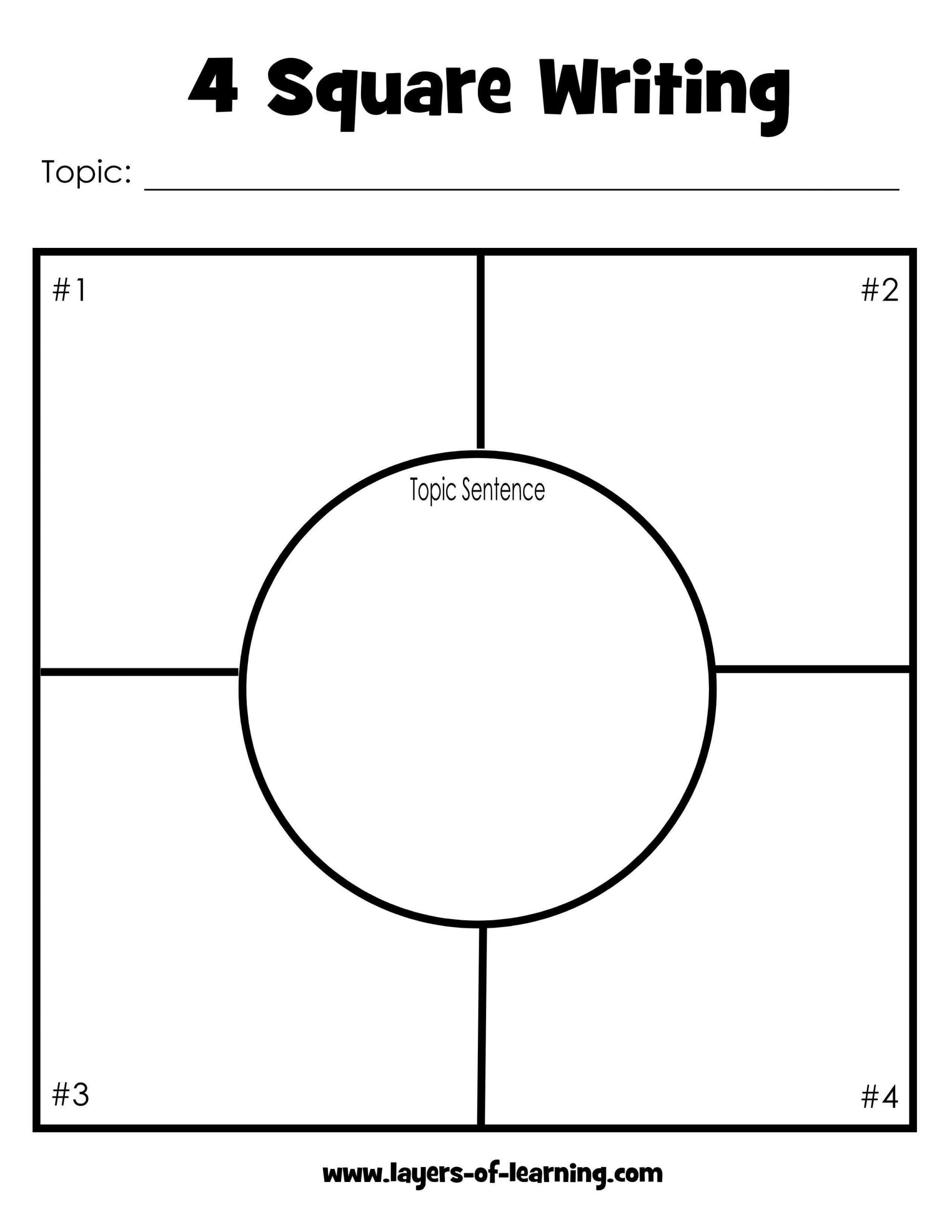 Four Square Writing Worksheets Four Square Writing Method