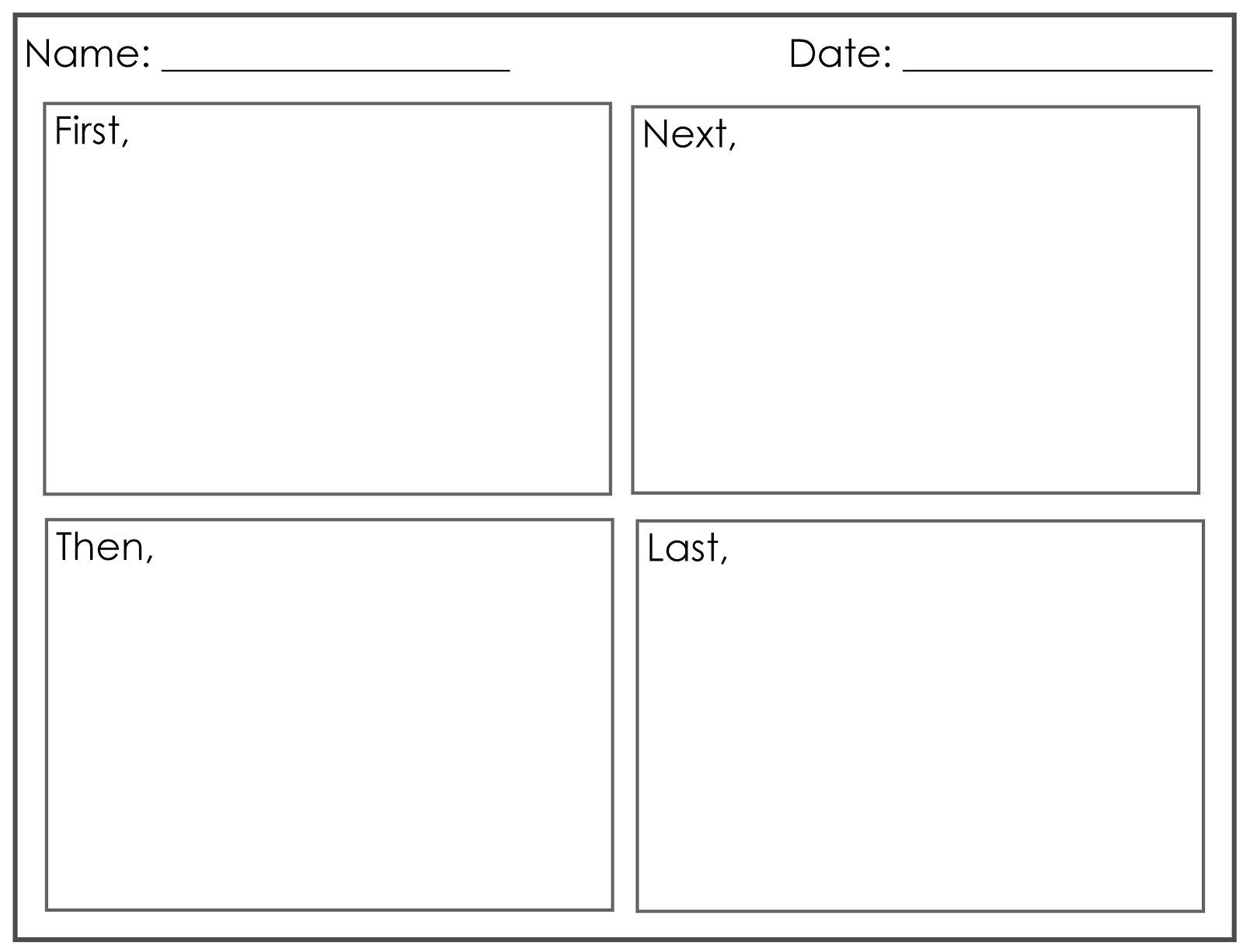 Four Square Writing Worksheets Four Square Writing Template Printable