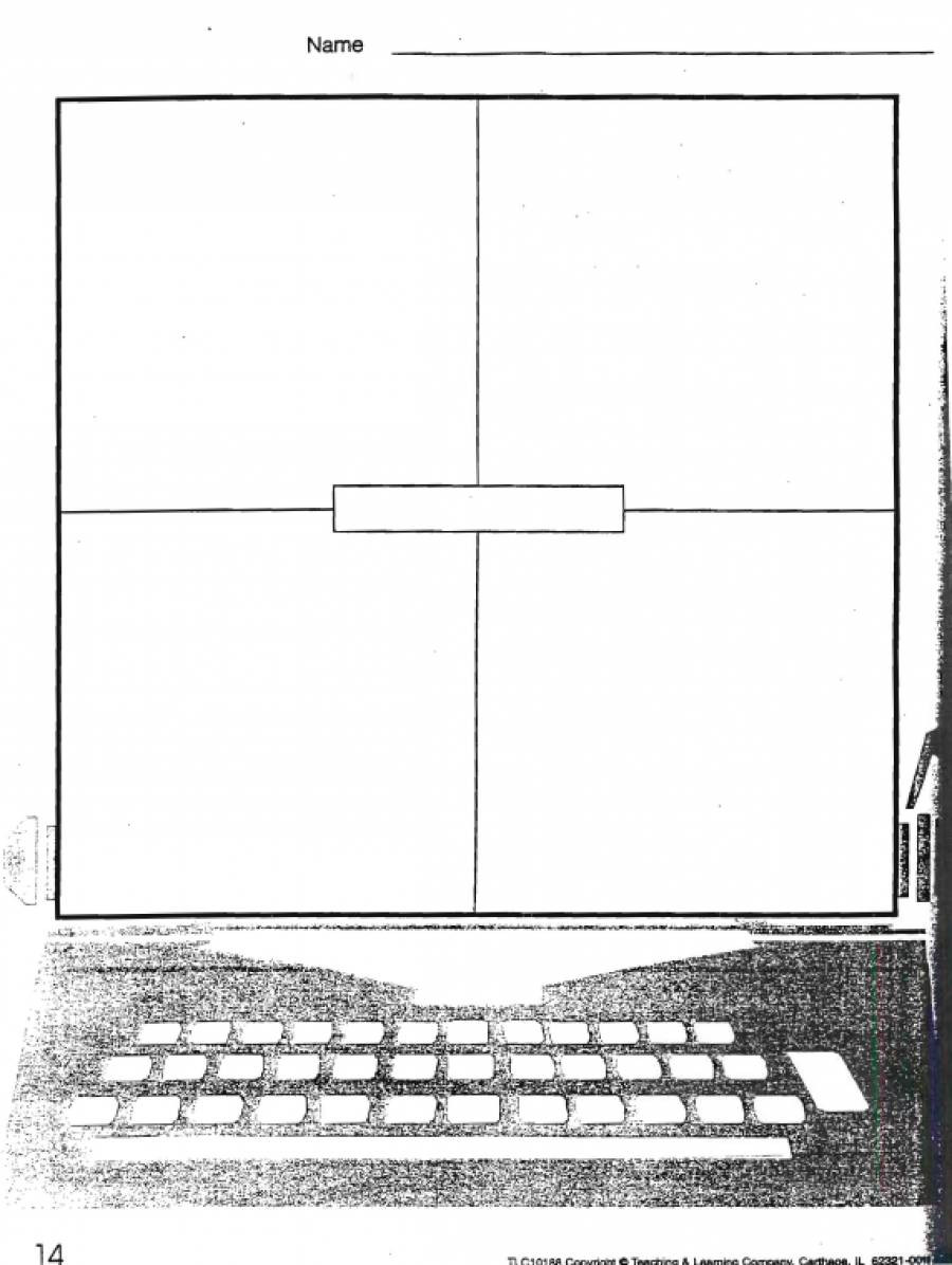 Four Square Writing Worksheets Four Square Writing Worksheet