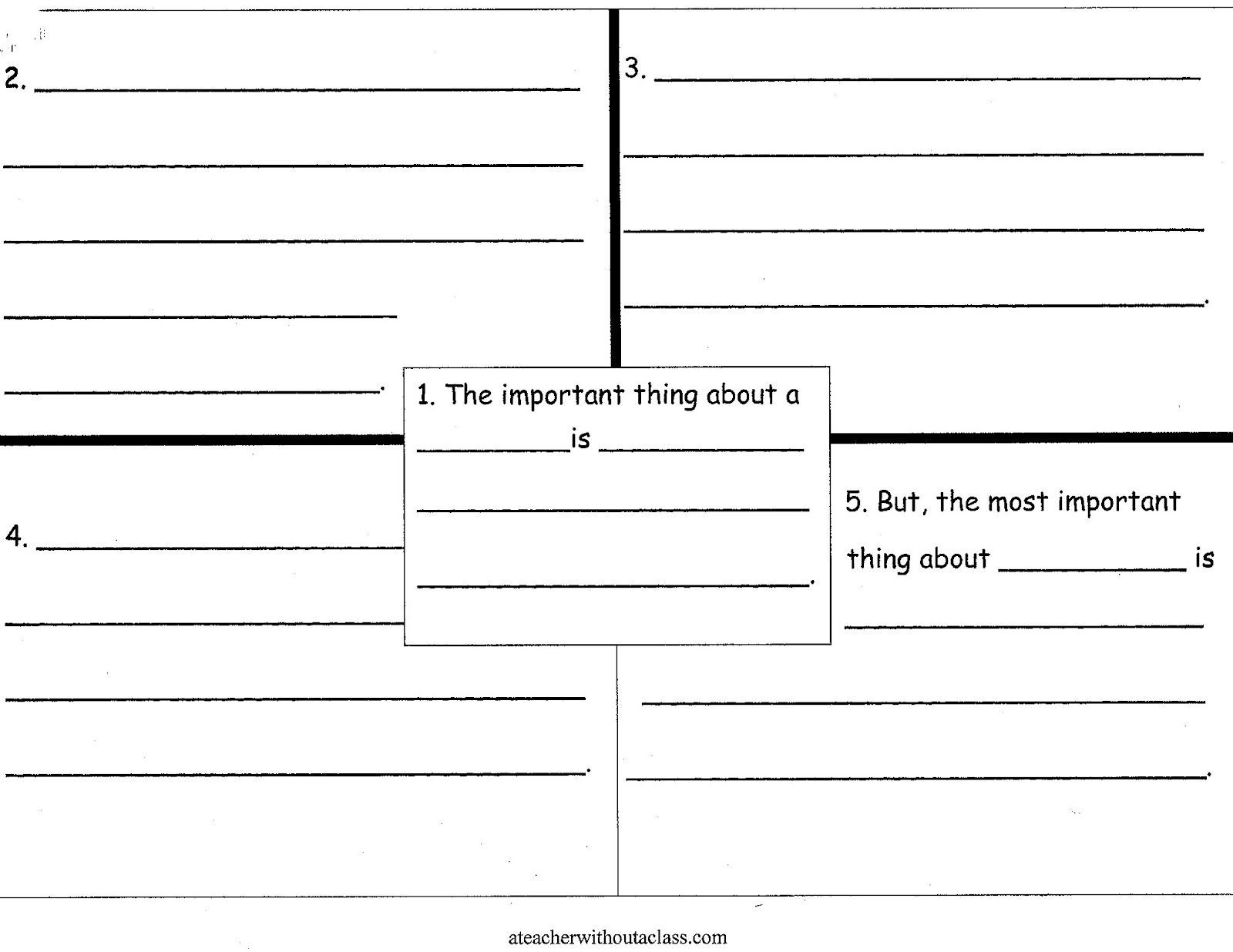 Four Square Writing Worksheets the Important Book A Giveaway