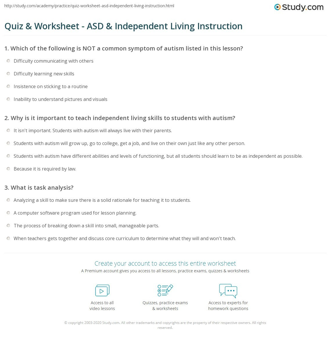 Free Independent Living Skills Worksheets Free Independent Living Skills Worksheet Printable