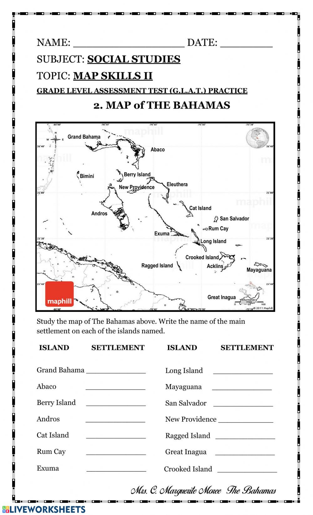 Free Map Skills Worksheets Map Skills Ii Interactive Worksheet