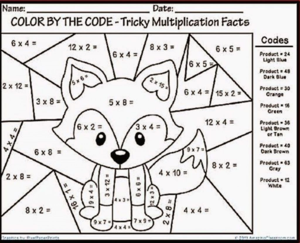 Free Math Coloring Worksheets Worksheet Math Printables Free Multiplication Coloring