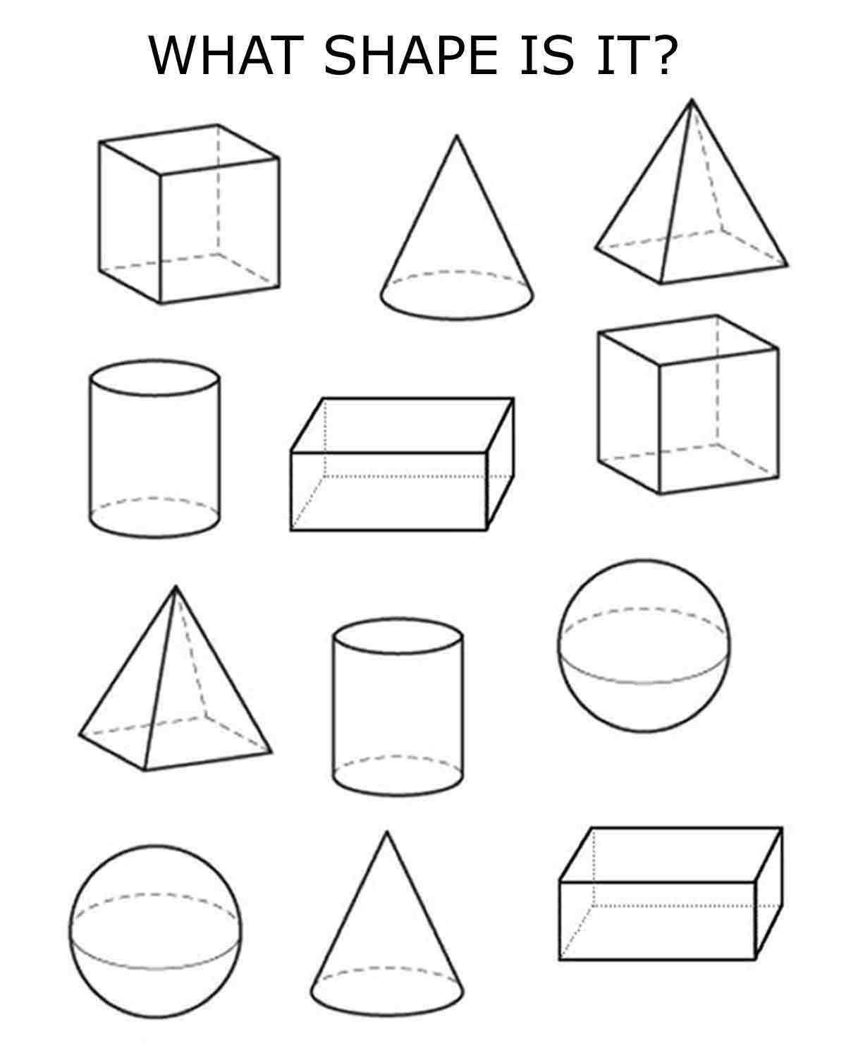 Free Printable 3d Shapes Worksheets 3d Shapes