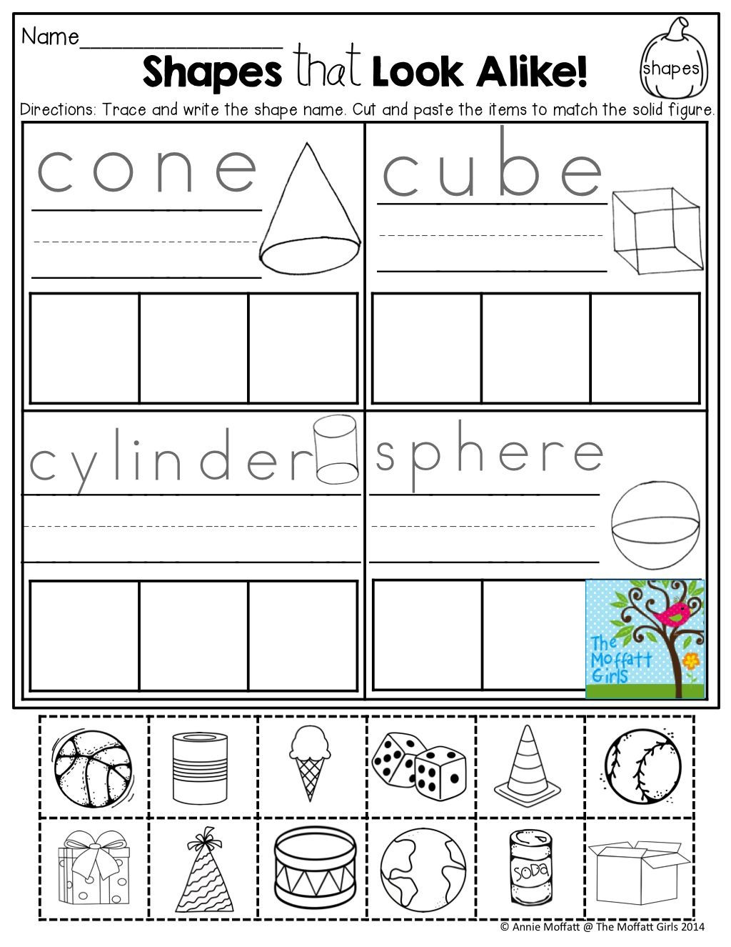 Free Printable 3d Shapes Worksheets Pin On Kindergarten Math
