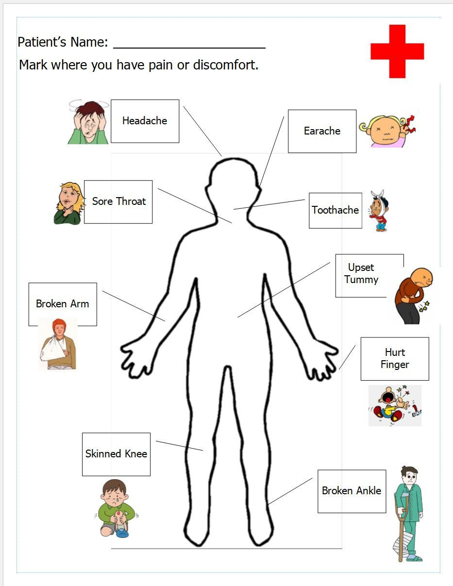 Free Printable Anatomy Worksheets Free Printable Worksheet for Doctor S Office Pretend Play