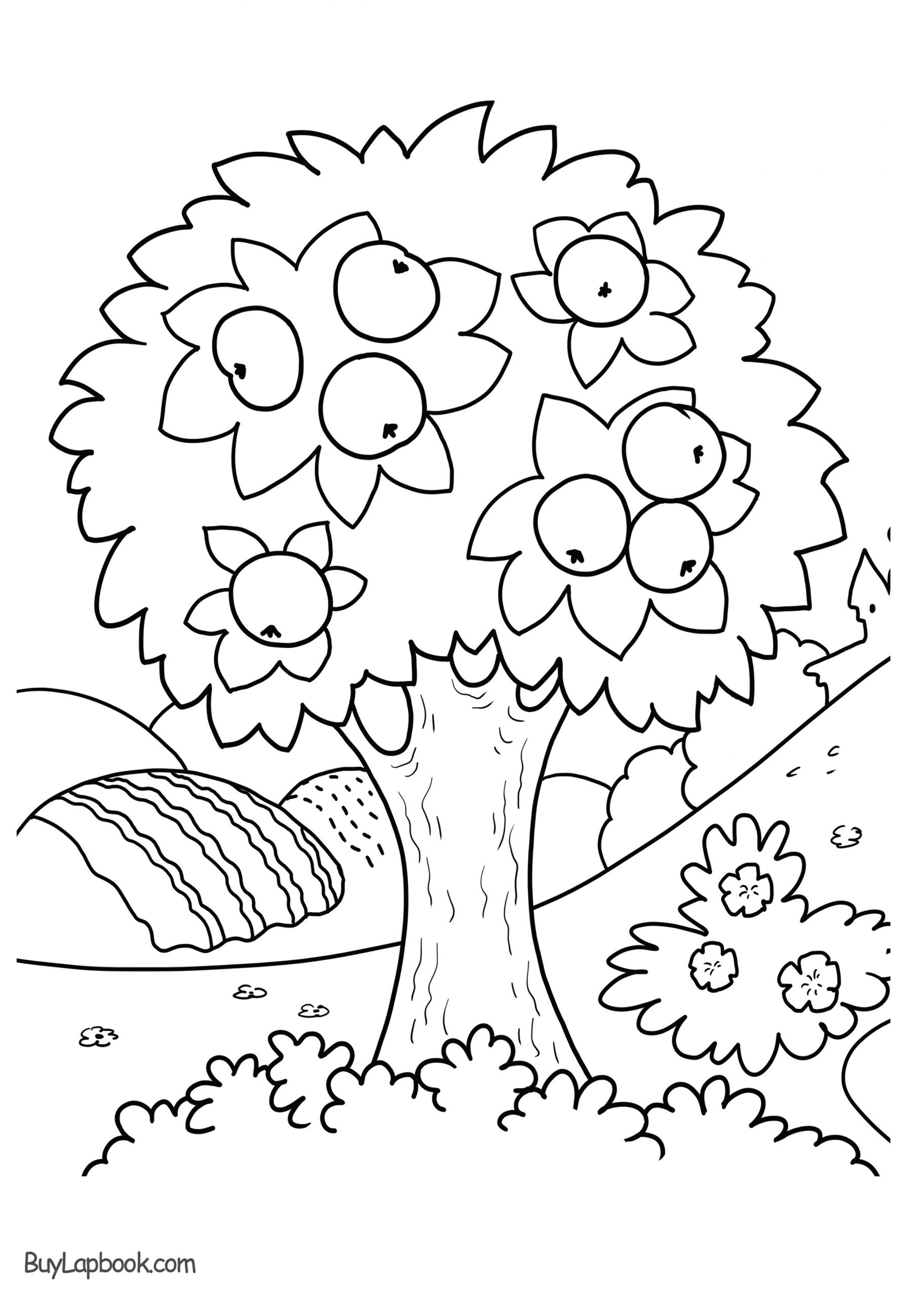 Free Printable Apple Worksheets Apple Tree Coloring Page Free Printable – Buylapbook