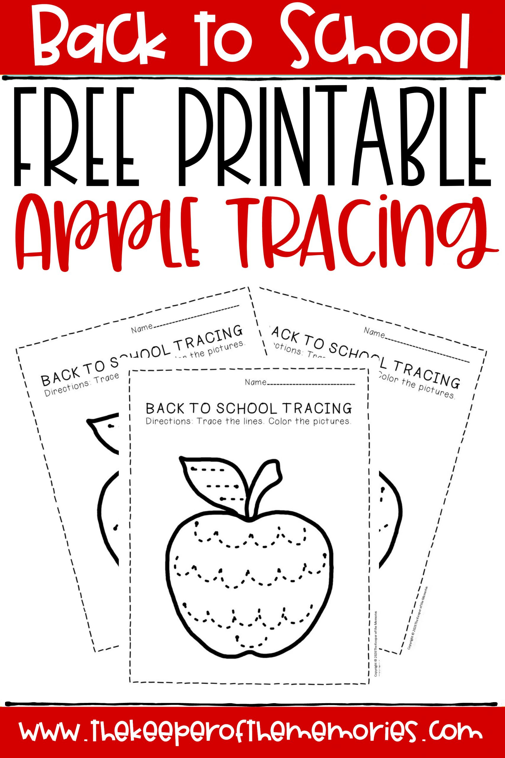 Free Printable Apple Worksheets Free Printable Tracing Back to School Preschool Worksheets