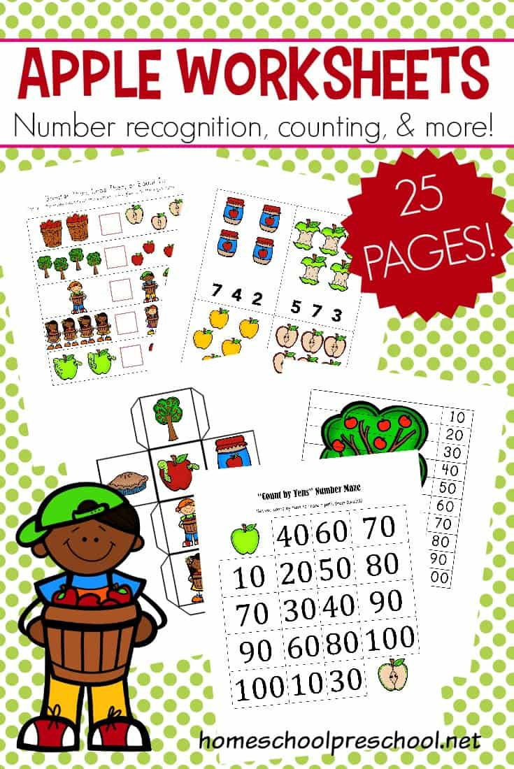 Free Printable Apple Worksheets Math Worksheet Math Worksheet Apple Worksheets Free