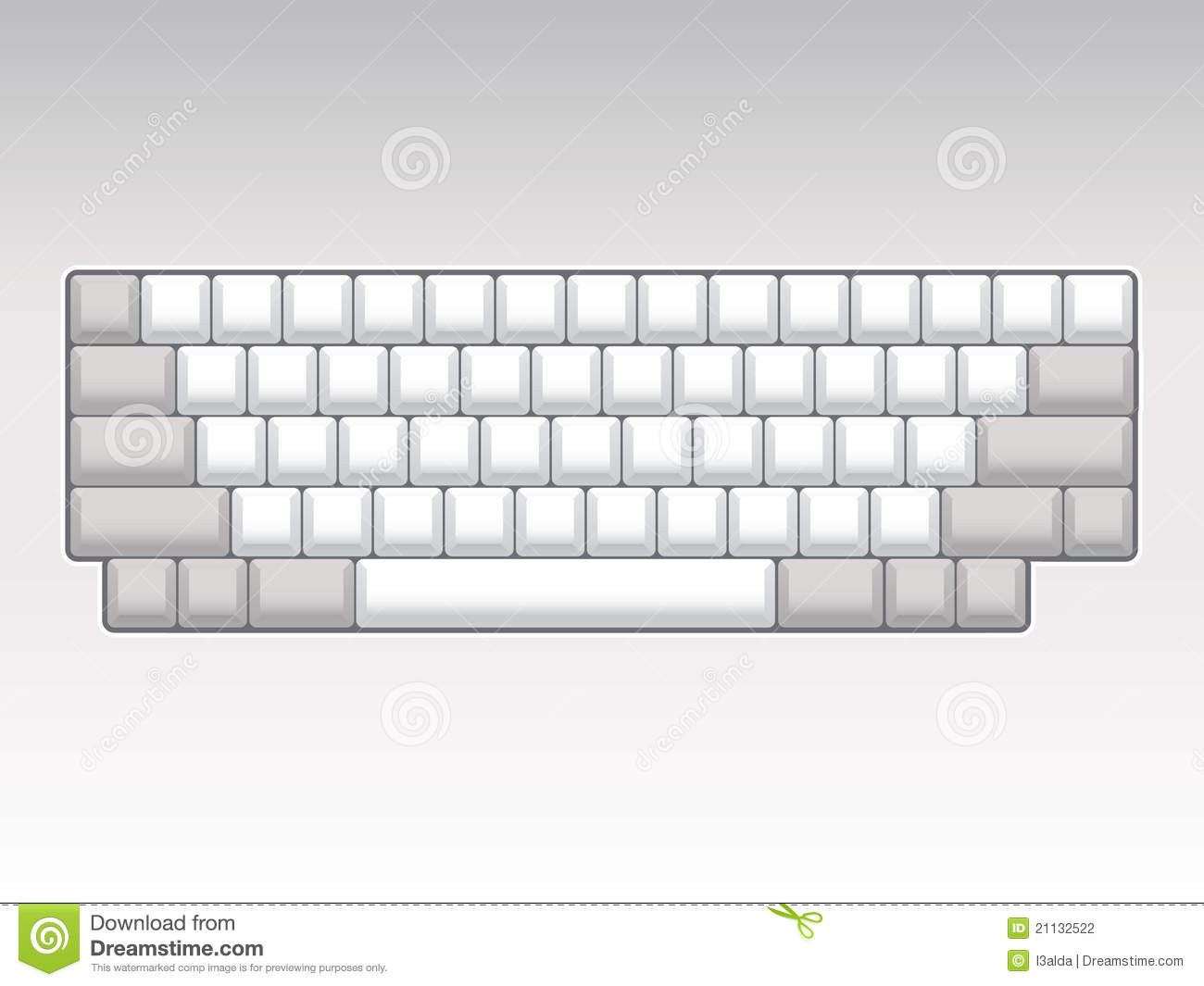 Free Printable Computer Keyboarding Worksheets Blank Keyboard Layout Stock Illustration Illustration Of