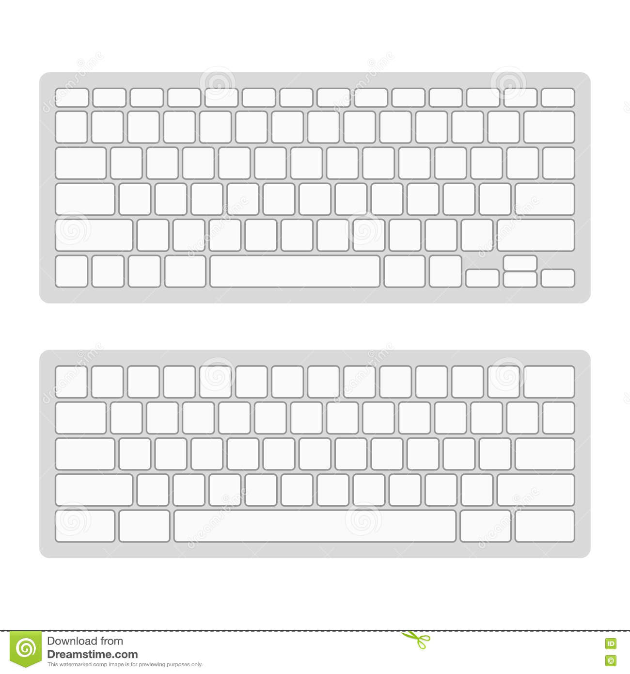 Free Printable Computer Keyboarding Worksheets Puter Keyboard Blank Template Set Vector Stock Vector