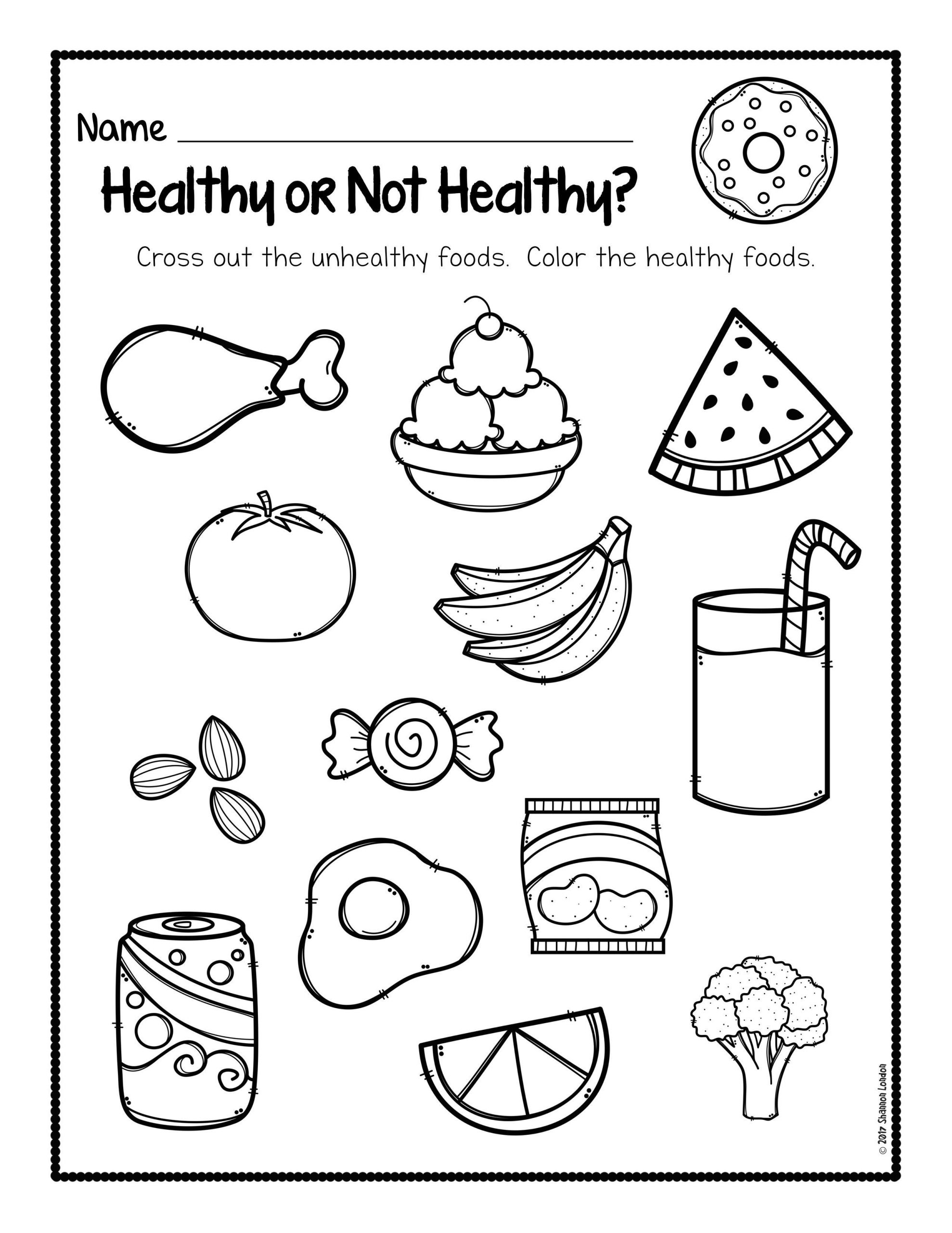 Healthy Foods Worksheet [FREE DOWNLOAD] The Super Teacher