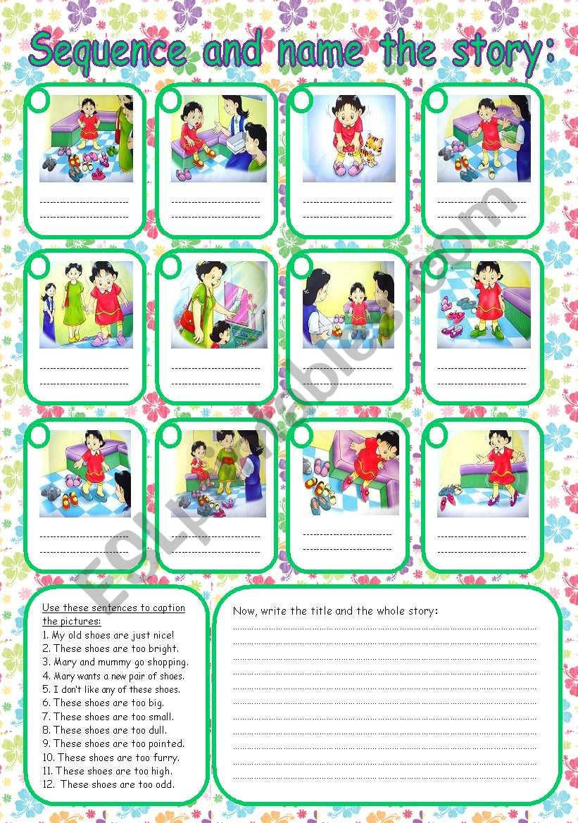 Free Printable Story Sequencing Worksheets Sequence the Story Esl Worksheet by Rumeisa