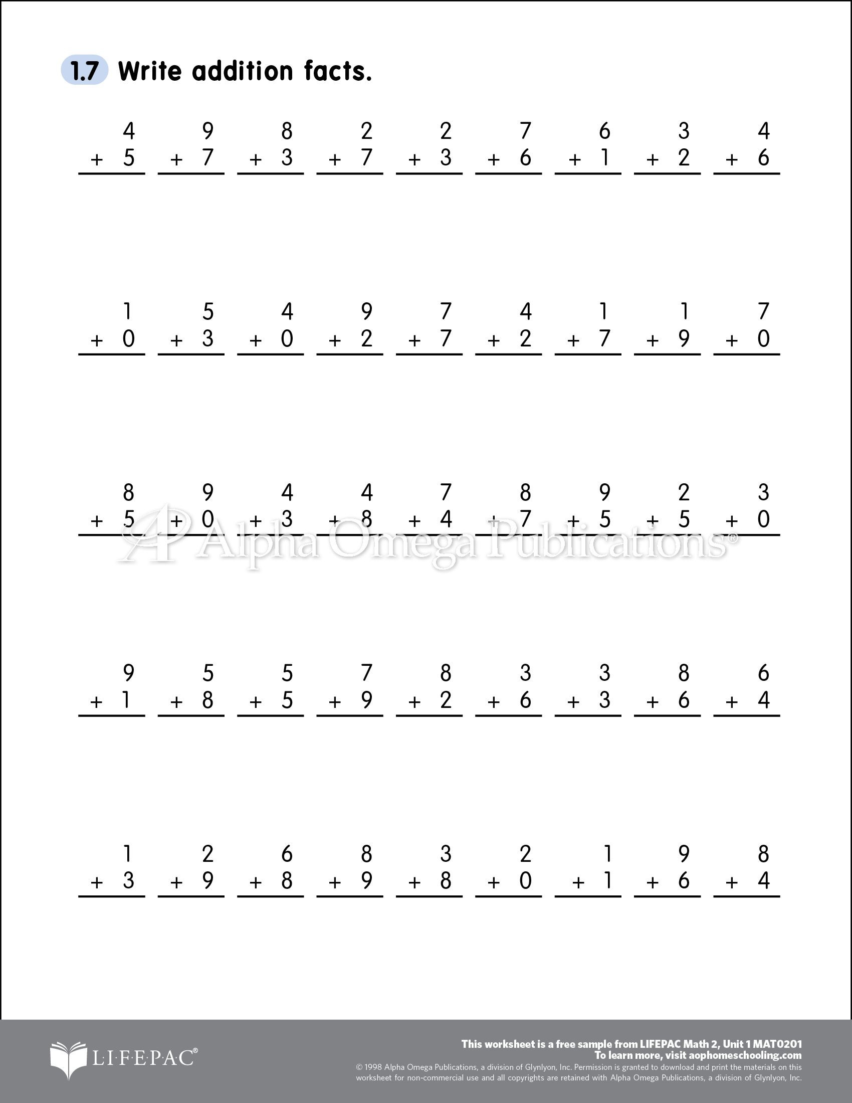 Free Saxon Math Worksheets Free Able Printable Worksheet Sample Page for