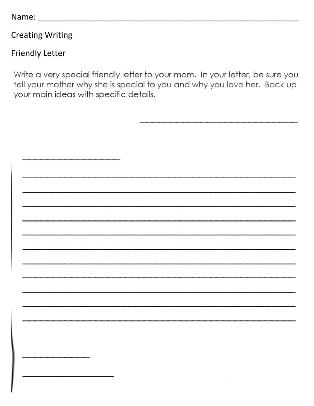 Friendly Letter Writing Worksheets Friendly Letter Interactive Worksheet