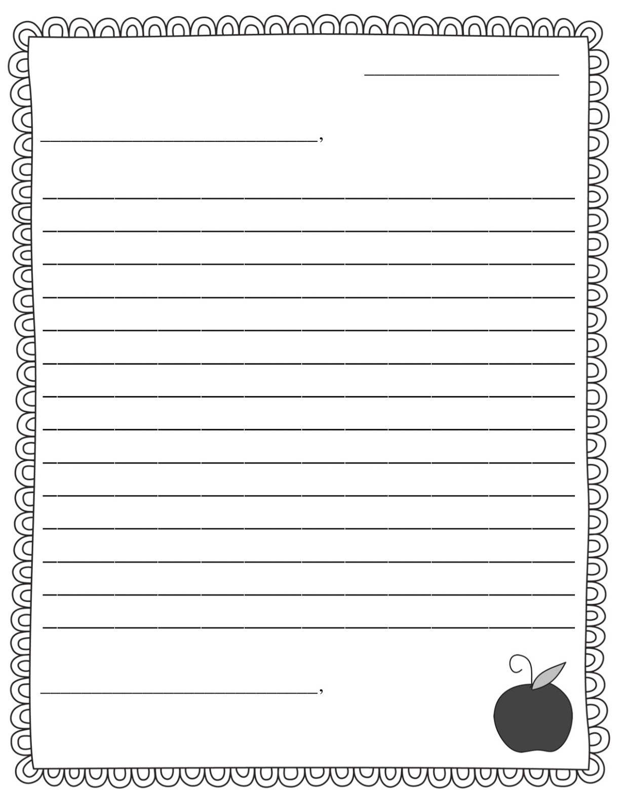 Friendly Letter Writing Worksheets Printable Friendly Letter Worksheet