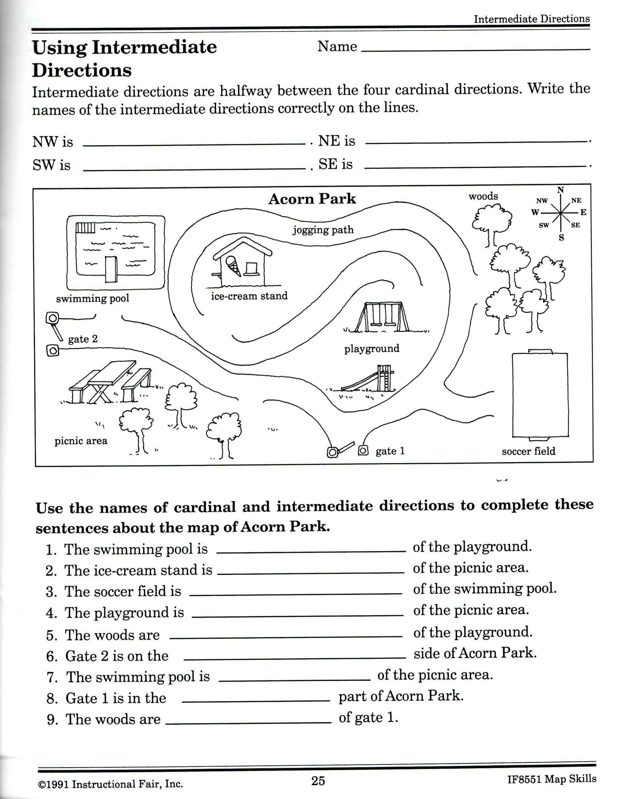 Geography Map Skills Worksheets Equator Map Skills Worksheets