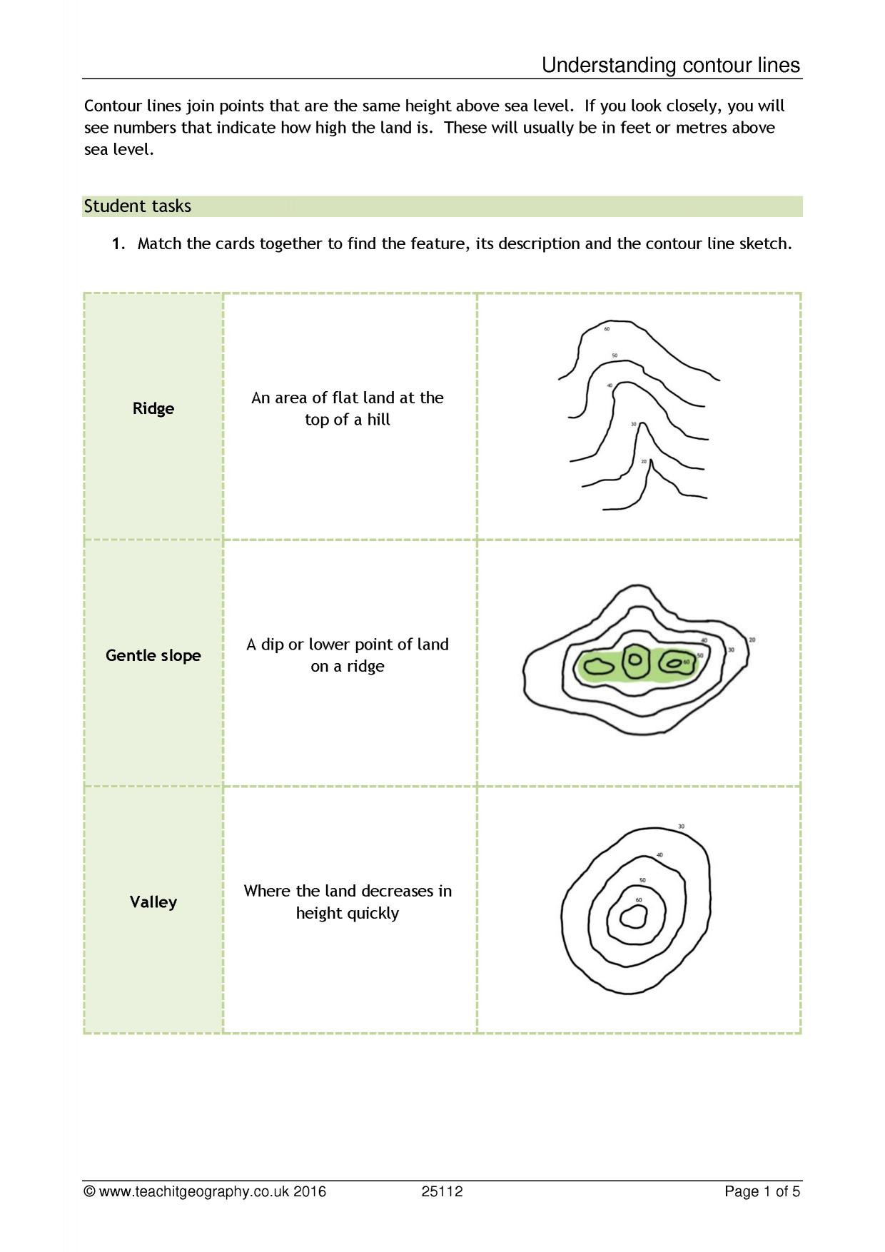 Geography Map Skills Worksheets Ks3 Map Skills