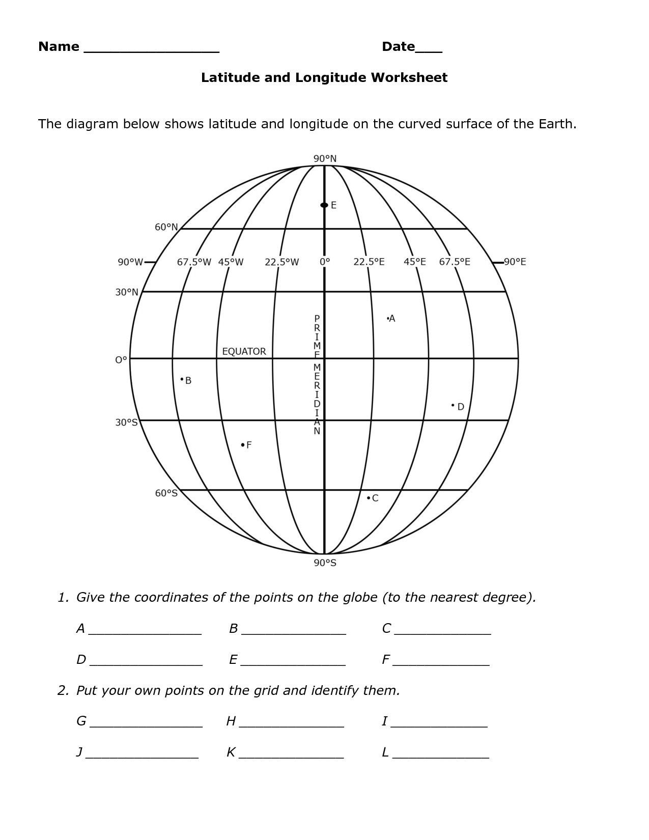 Geography Map Skills Worksheets Skills Worksheet Map Skills Us Crops Best Using Latitude and