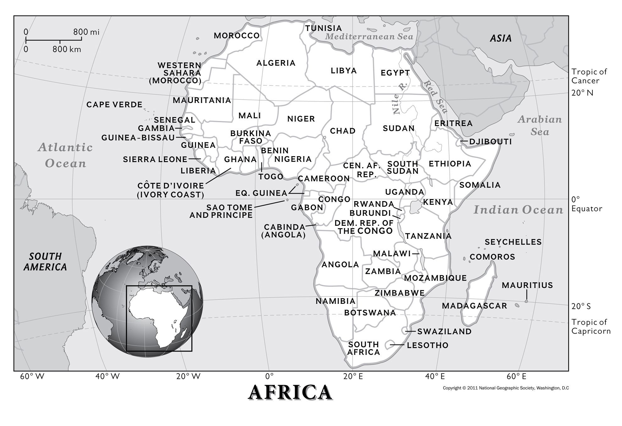 Geography Worksheets Middle School Africa Physical Geography