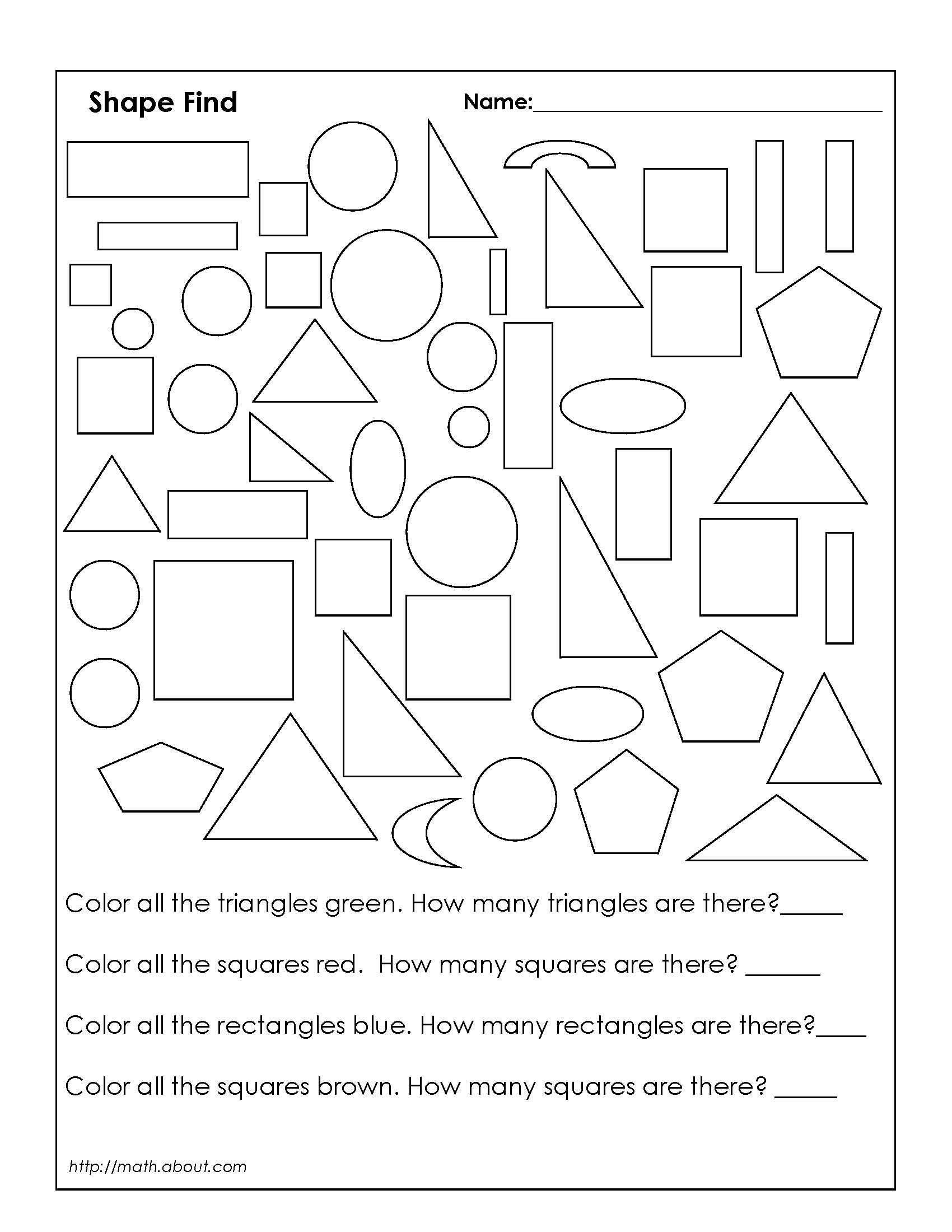 Geometric Shapes Worksheets 2nd Grade 18 Best Rectangles Triangles Worksheets Images On Best