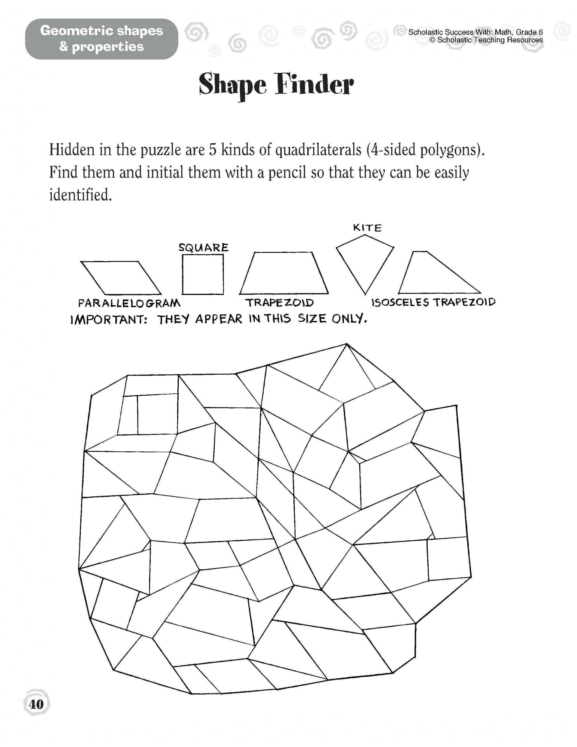 Geometry Worksheet 2nd Grade 5 Free Math Worksheets Third Grade 3 Addition Adding whole