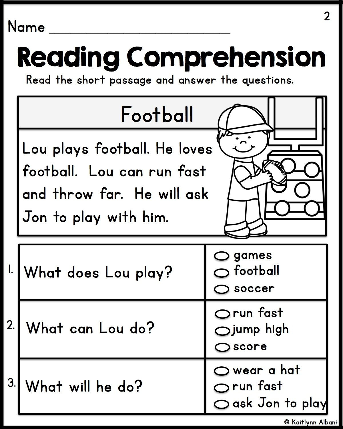 Grade 1 Reading Worksheets Math Worksheet Kindergartenng Prehension Passages Set