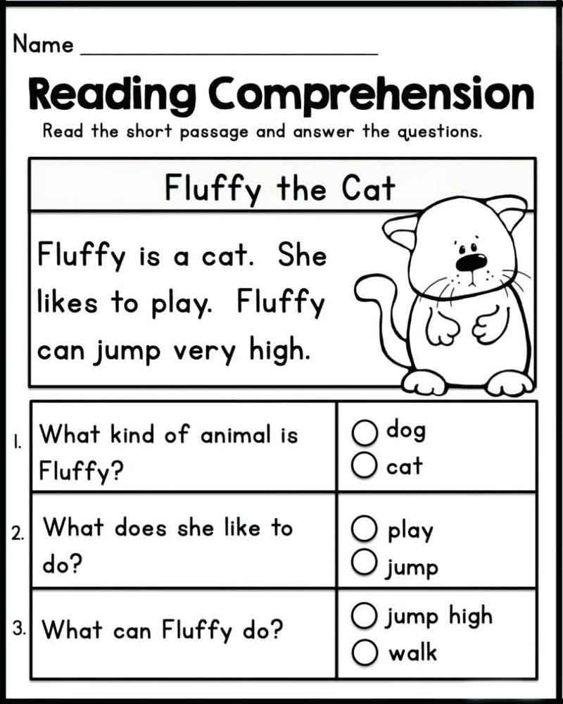 Grade 1 Reading Worksheets Worksheet Free Literacyets Printable for Adults Grade